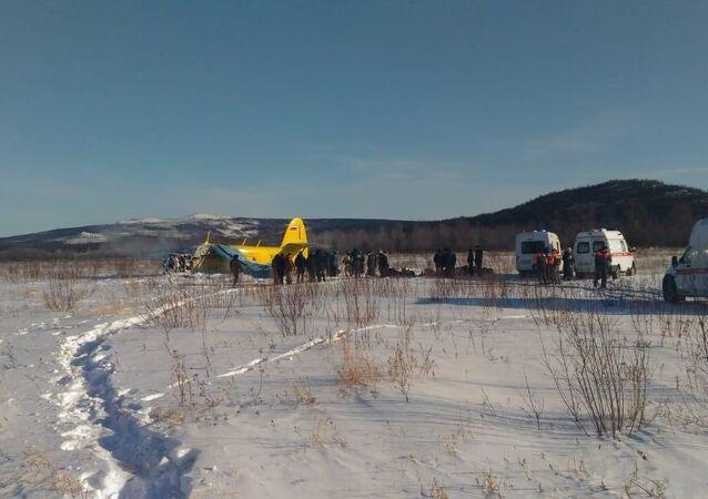 Tvrdé přistání letadla An-2 v Magadanu, Rusko