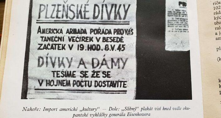 Výňatek z knihy Američané v západních Čechách v roce 1945. Inzerát