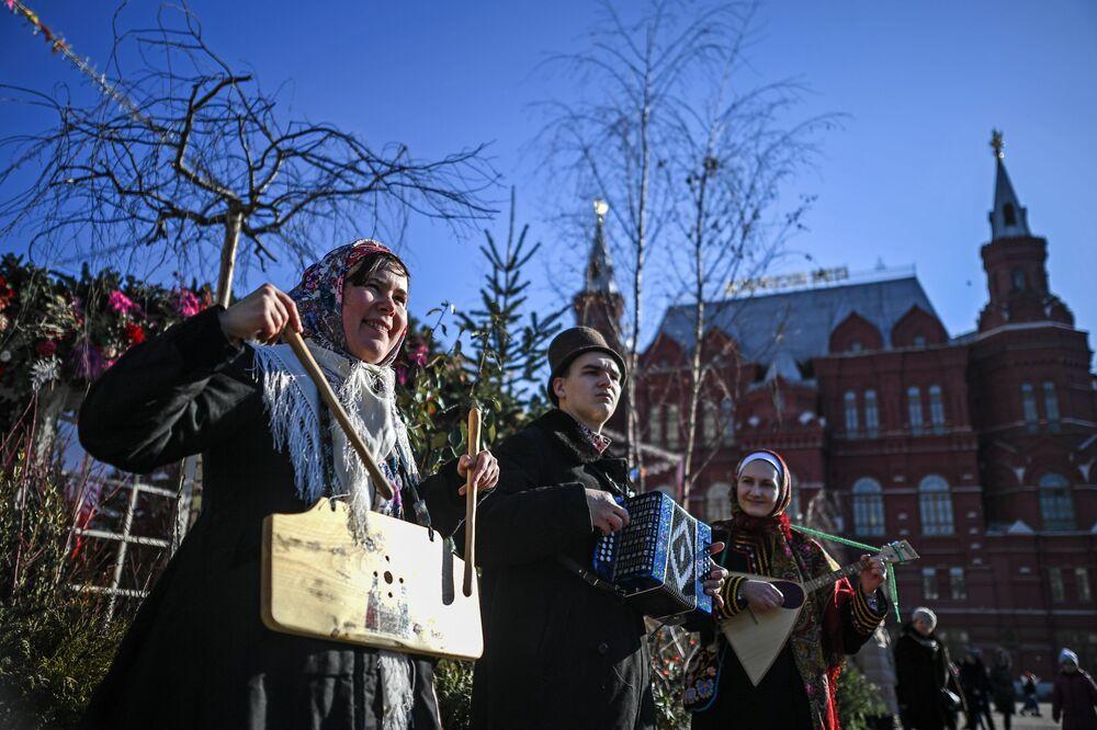Slavnostní zahájení festivalu Moskevská Maslenica.