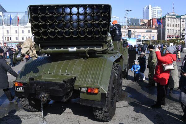 Raketomet BM-21 Grad ve Vladivostoku. - Sputnik Česká republika