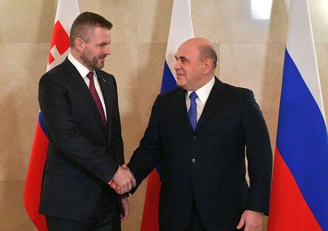 Michail Mišustin a Peter Pellegrini