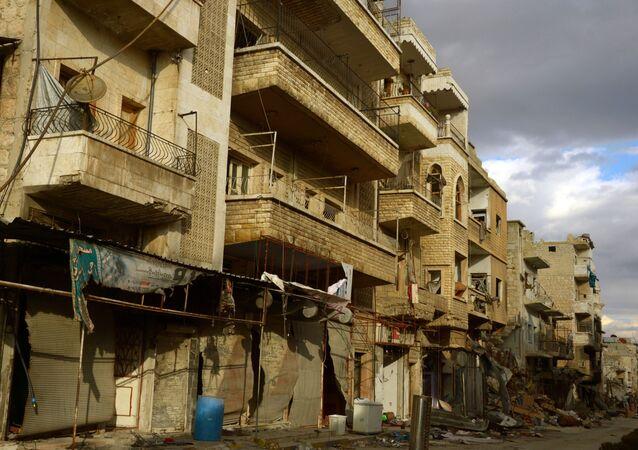 Syrský Maarat an-Numán, který byl osvobozen od teroristů