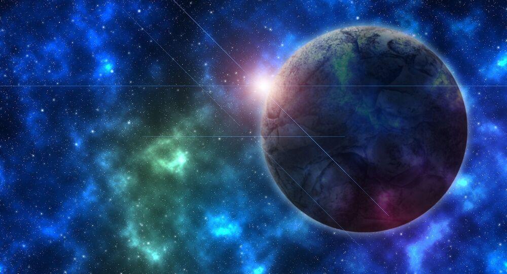 Zobrazení planety ve vesmíru