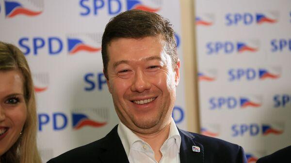 Лидер чешского ультраправого движения «Свобода и прямая демократия» Томио Окамура - Sputnik Česká republika