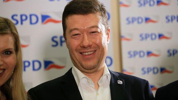 Lídr hnutí SPD Tomio Okamura. - Sputnik Česká republika