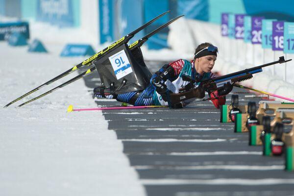 Oksana Masters na biatlonových soutěžích během Paralympijských zimních her 2018 v Pchjongčchangu, Jižní Korea - Sputnik Česká republika