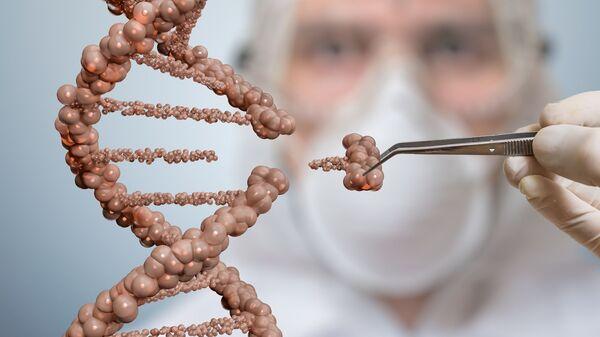 Vědec odstraňuje část řetězce DNA  - Sputnik Česká republika