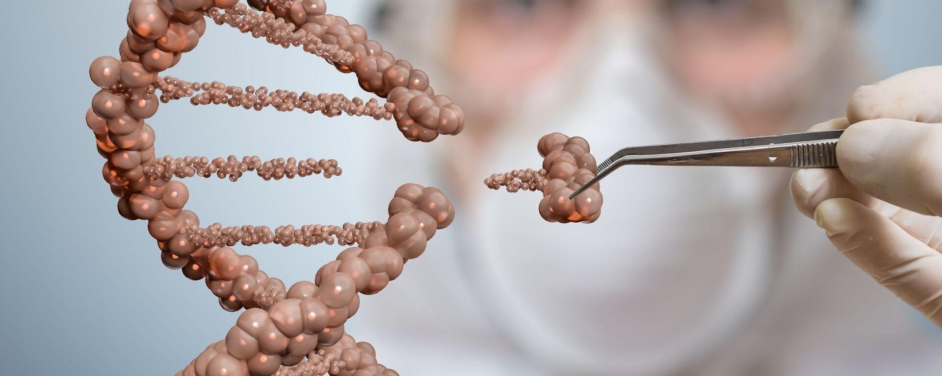 Vědec odstraňuje část řetězce DNA  - Sputnik Česká republika, 1920, 06.05.2021