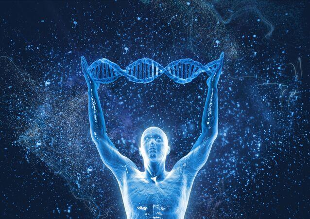 Řetězec lidské DNA