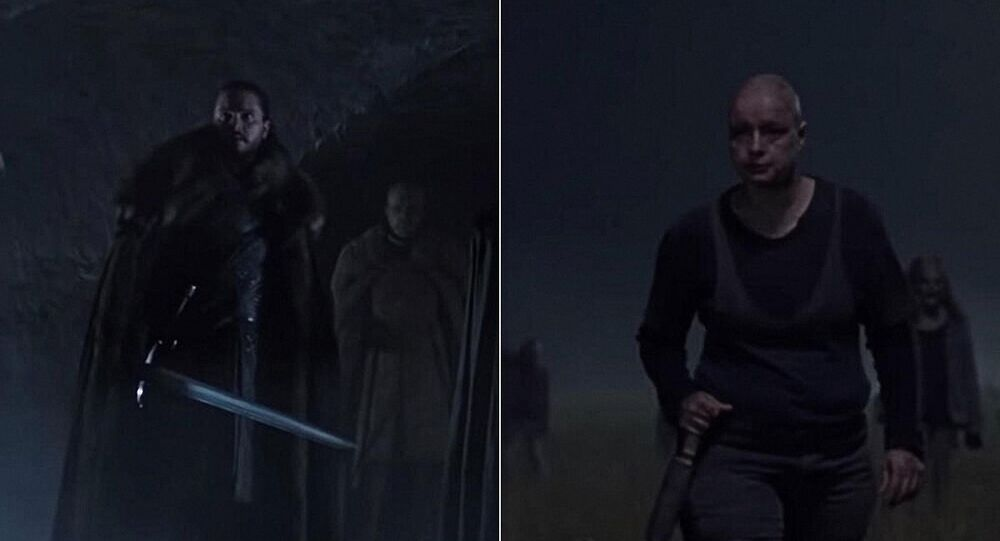 "Záběry ze série ""Game of Thrones"" (8. sezóna) a ""The Walking Dead"" (10. sezóna)"