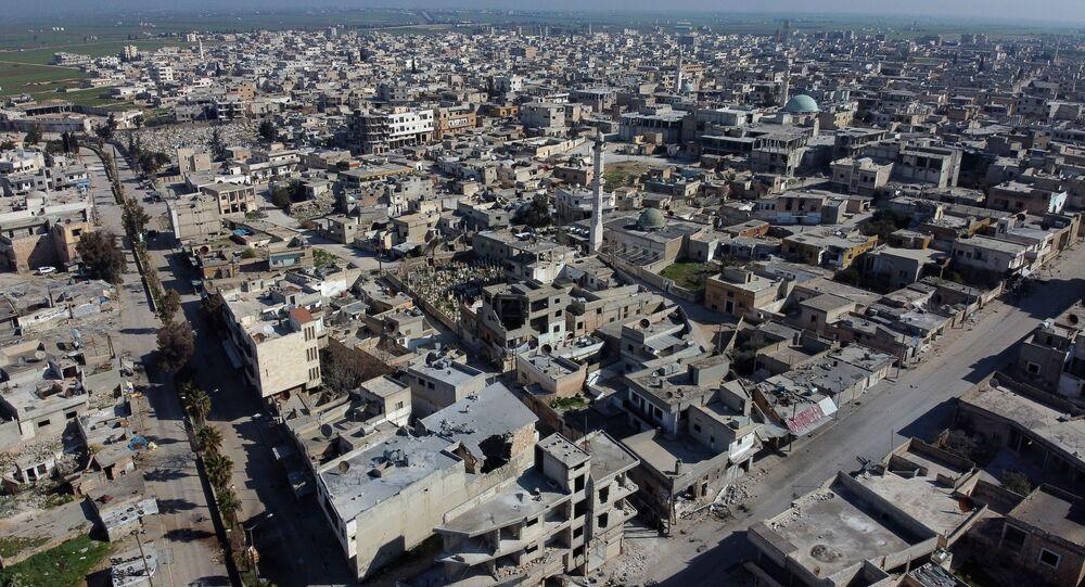 Město Sarakíb v provincii Idlib. Ilustrační foto