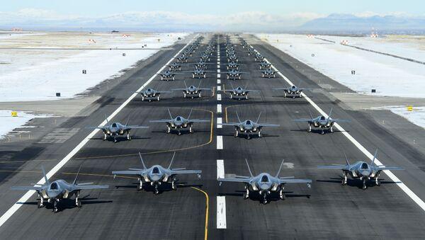 Bojové cvičení F-35A na základně Hill Air Force, Utah, 6. ledna 2020 - Sputnik Česká republika