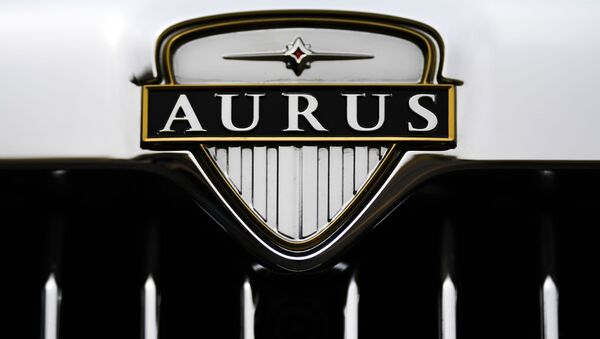 Logo kabrioletu Aurus Senat - Sputnik Česká republika