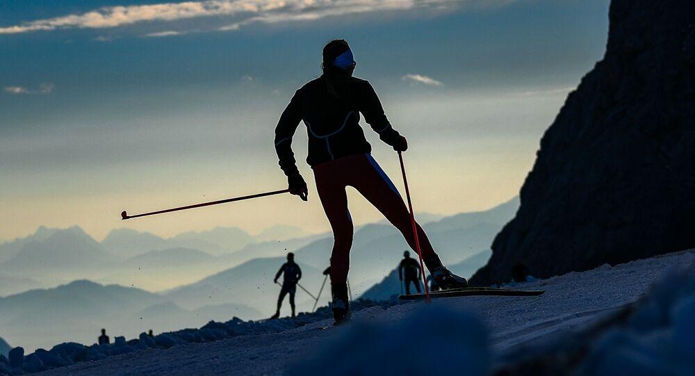 Závodníci na biatlon v Rakousku. Ilustrační foto