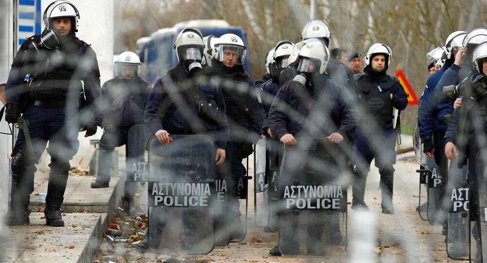 Zaměstnanci řecké policie