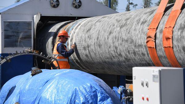 Stavba plynovodu Nord Stream 2 v Leningradské oblasti - Sputnik Česká republika
