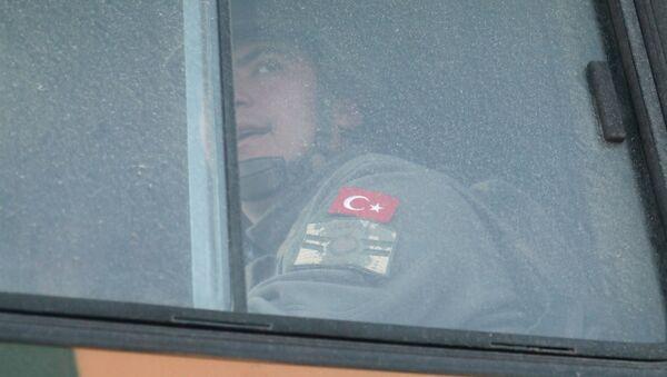 Turecký voják v Sýrii - Sputnik Česká republika