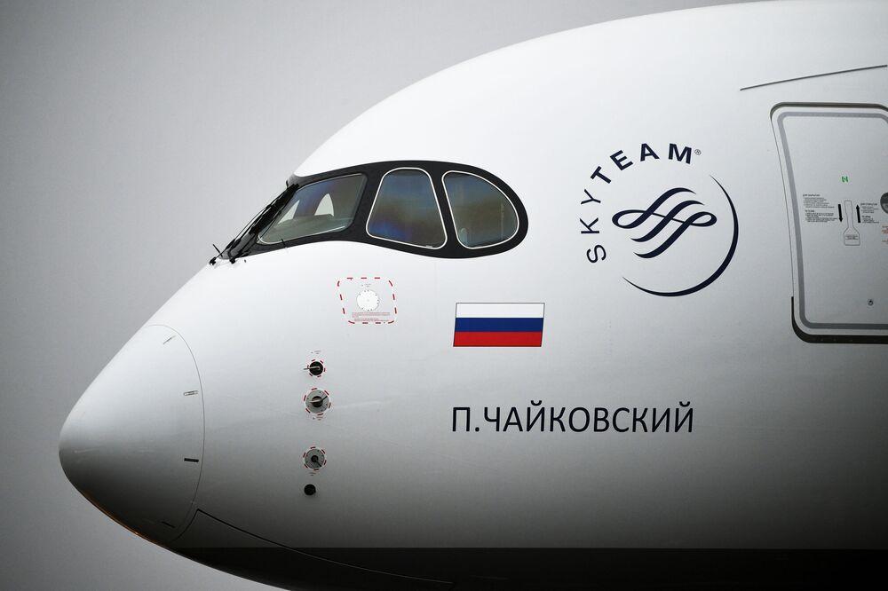 První letadlo Airbus A350 ve flotile Aeroflotu je pojmenováno po hudebním skladateli Petru Čajkovskému.