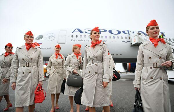 Očekává se, že ke konci roku 2020 bude Aeroflot disponovat 11 novými letadly Airbus A350.  - Sputnik Česká republika
