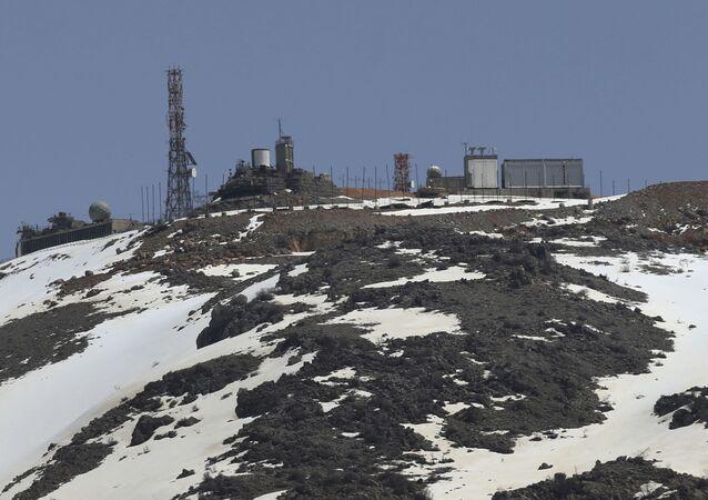 Hora Hermon v Golanských výšinách