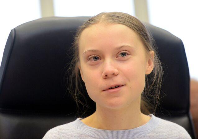Švédská klimatická aktivistka Greta Thunbergová se účastní setkání s předsedou Evropské komise Ursulou Von der Leyenovou a evropskými komisaři v Evropské komisi v Bruselu, Belgie, 4. března 2020