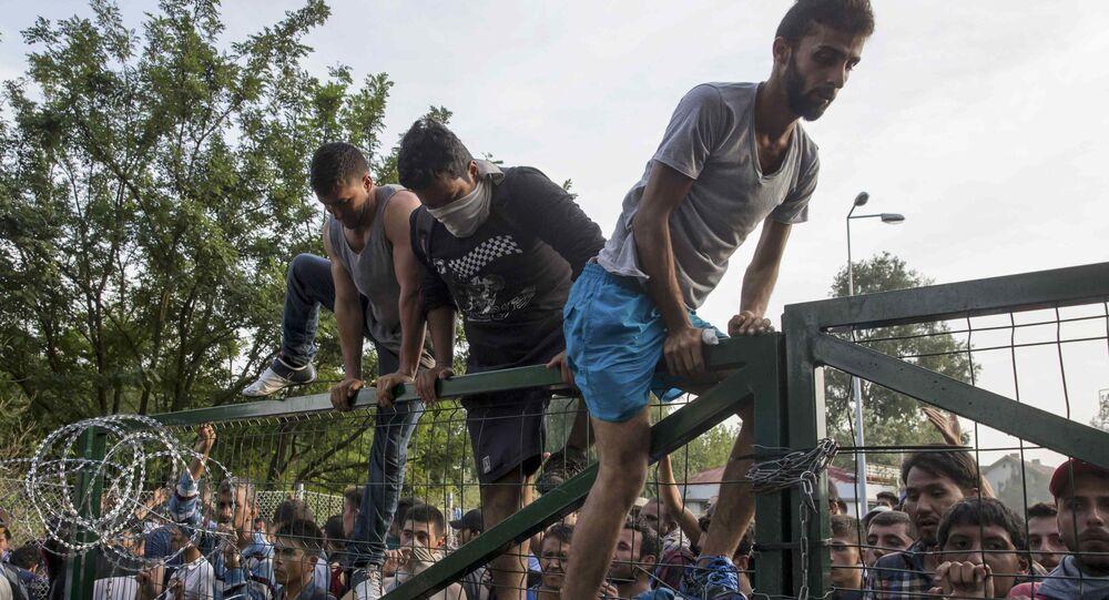 Střety migrantů s maďarskou policií