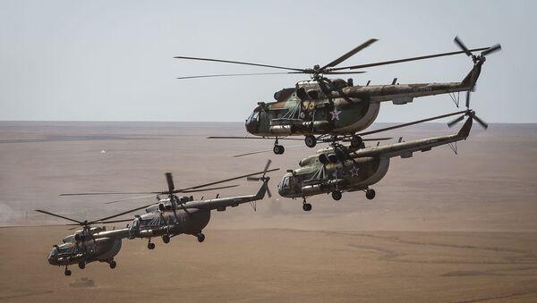 Vrtulníky MI-8 v Astrachani - Sputnik Česká republika