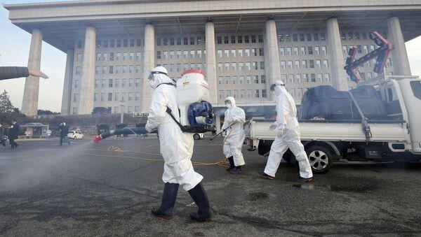 Boj proti koronaviru v Soulu. Ilustrační foto - Sputnik Česká republika