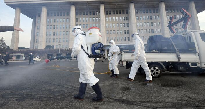Boj proti koronaviru v Soulu. Ilustrační foto