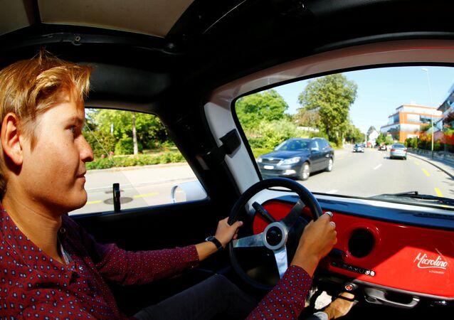 Elektromobil Microlino v Curychu