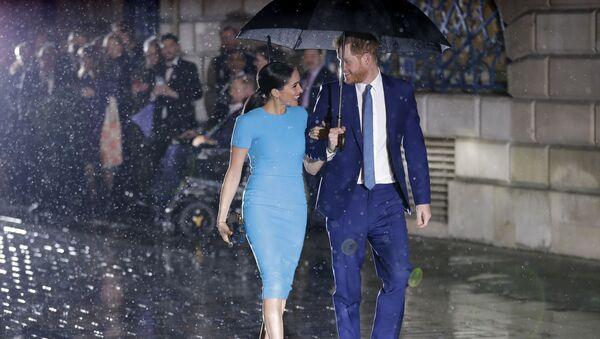 Meghan Markleová a princ Harry se účastní Endeavor Fund Awards - Sputnik Česká republika