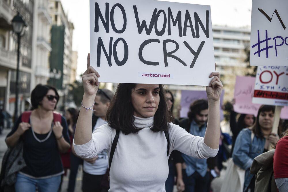 Demonstrace 8. března v Aténách, Řecko