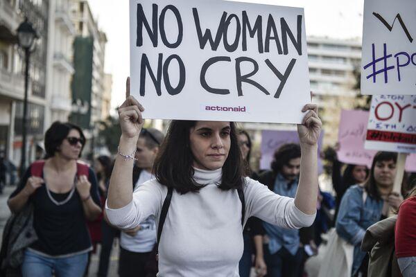Demonstrace 8. března v Aténách, Řecko - Sputnik Česká republika