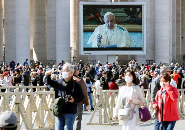 Přenos kázání papeže Františka ve Vatikánu