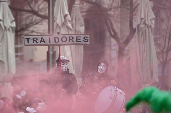 Protesty v Madridu - Sputnik Česká republika