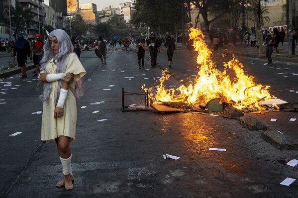 Protesty v Chile - Sputnik Česká republika