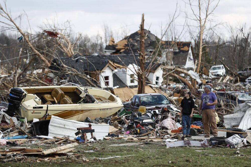 Dům v Tennessee, který zničilo tornádo (USA)