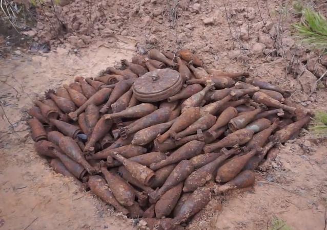 Obyvatelka vesnice náhodou objevila stovky střel z doby Velké vlastenecké války