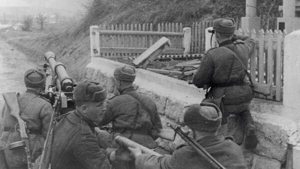 Vojáci svádějí boj v okolí řeky Oravy. - Sputnik Česká republika