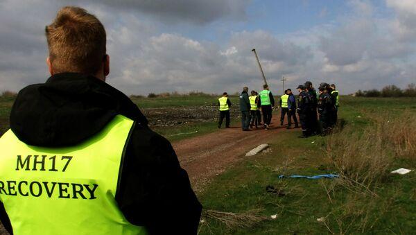 Experti z Nizozemska a Malajsie v místě havárie Boeingu-777 v Doněcké oblasti - Sputnik Česká republika