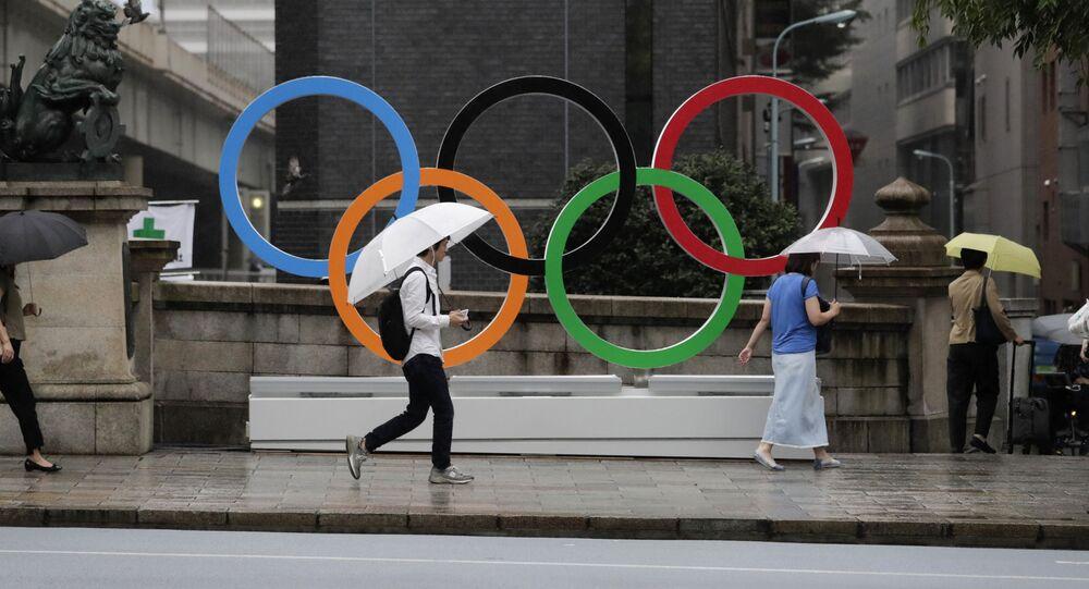 Symbol Olympijských her v Tioku