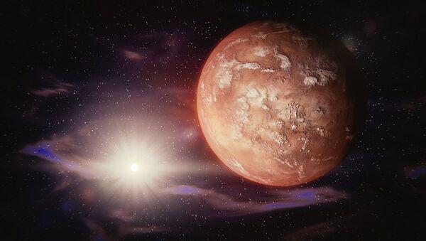 Planeta na pozadí hvězdy - Sputnik Česká republika