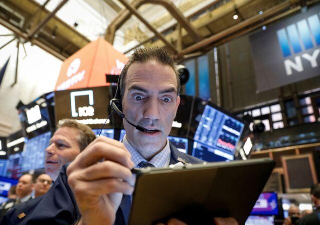Trader na newyorské burze