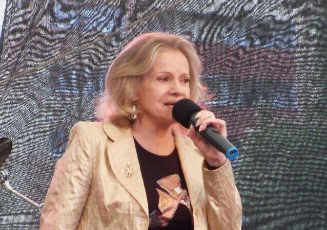 Česká zpěvačka a herečka Eva Pilarová