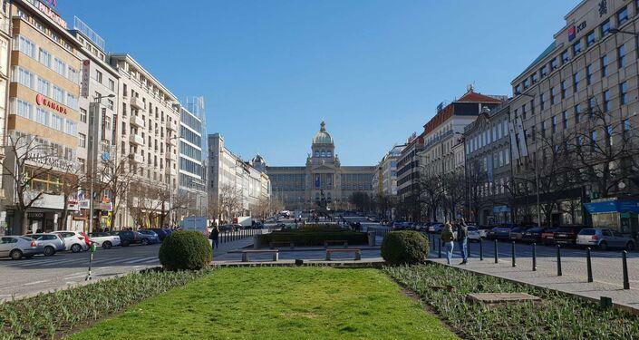 Václavské náměstí, 14. března 2020