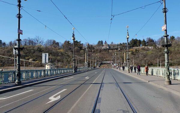 Čechův most, 14. března 2020 - Sputnik Česká republika