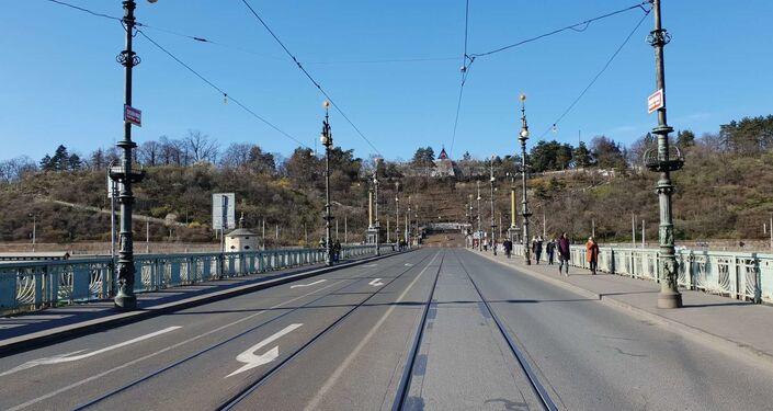 Čechův most, 14. března 2020