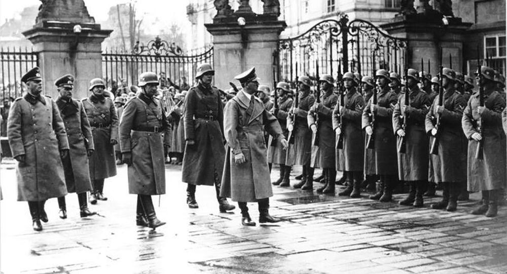 Adolf Hitler v Praze. 15.3.1939