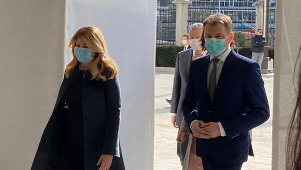 Slovenská prezidentka Zuzana Čaputová a lídr OĽaNO Igor Matovič - Sputnik Česká republika