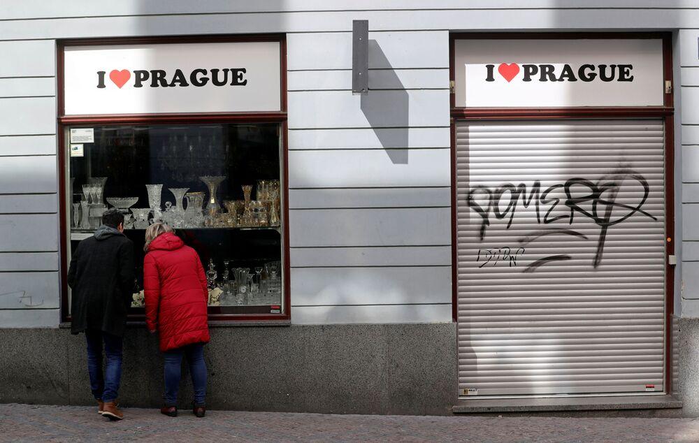 Uzavřený obchod v Praze